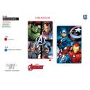Avengers CLASSIC - plaid 100x150cm in pile 100% po