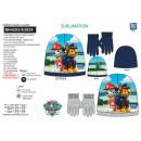 PAW PATROL - set 2 pièces bonnet & gants 100% p