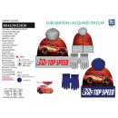Cars 3 - set 2 pieces hat & gloves 100% p