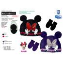 Großhandel Lizenzartikel: Minnie - Set 2 Stück Hut & Handschuhe 100%