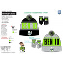 BEN 10 - set 2 pieces hat & gloves multi