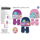 PRINCESSE - set 2 pièces bonnet & gants multi