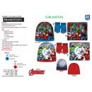 Avengers CLASSIC - set 3 piezas sombrero y cuello