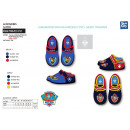 wholesale Shoes: Paw Patrol - 100% coton velcro slippers