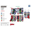 AVENGERS CLASSIC - pack 3 chaussettes 40% co55% pe