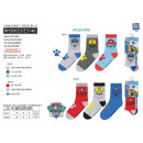 Paw Patrol - pack 3 socks 40% co55% pe3