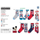 Mickey - pack 3 socks 40% co55% pe3