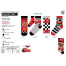 wholesale Socks and tights: Cars 3 - socks 70% cotton 18% polyester 10%