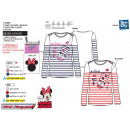 MINNIE - t-shirt manches longues 95% cotton / 5% e