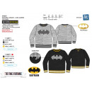 grossiste Pulls et Sweats: BATMAN - sweat 65% polyester / 35% cotton
