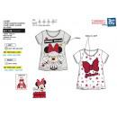 Großhandel Lizenzartikel: Minnie - Short T-Shirt 100% Baumwolle