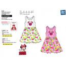 Großhandel Lizenzartikel: Minnie - Ärmelloses Kleid aus 100% Baumwolle