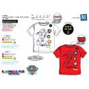 Großhandel Lizenzartikel: Paw Patrol - Ph Print Kurzarm- T-Shirt