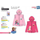 FROZEN - sweat capuche zippe 65% polyester / 35% c