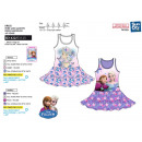 frozen - dress s / m skirt ruffles 100% coto