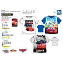Großhandel Lizenzartikel: Cars 3 - Kurzes T-Shirt 100% Baumwolle