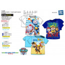 wholesale Licensed Products: Paw Patrol - 100% coton Short Cuff T-Shirt
