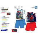 Spiderman - pyjacourt deb & sh 100% algodón