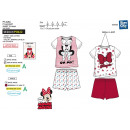 Minnie - T-Shirt pyjacourt y algodón 100% sh