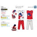 Großhandel Lizenzartikel: LADY BUG - Pyjamas 3/4 100% Baumwolle