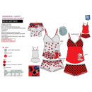 grossiste Articles sous Licence: LADY BUG - ensemble debardeur & shorty multi com