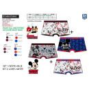 Mickey - paquete de 2 boxers estampados 95% algodó