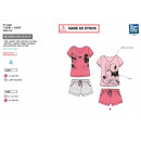 Minnie - pyjacourt T-Shirt & sh 100% coton
