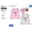 Peppa Pig - - T-Shirt lange Ärmel Volldruck 100