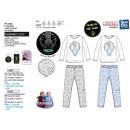 frozen - long phosphorescent 100% cotton pajamas