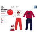 Großhandel Lizenzartikel: Minnie - 100% korallenroter Pyjama Polyester
