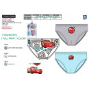 Cars 3 - kit of 3 100% briefs coton
