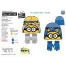 Minions - Set mit 2 Multi Hüten und Handschuhen