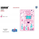 Peppa Pig - 100% fleece blanket 100x150cm polyeste