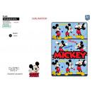 Mickey - Plaid 100x150cm 100% Fleece Polyester