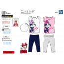Minnie - langer Schlafanzug T-Shirt mc + hose 100%