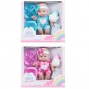 Großhandel Puppen & Plüsch: Puppe 25cm Baby + Zubehör 28x26x9 Monate mix3 wind