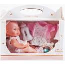 Großhandel Puppen & Plüsch: Babypuppe 35cm Box + Zubehör 31x26x15 Monate Windo