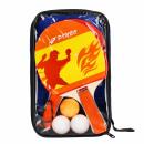 grossiste Sports & Loisirs: raquettes de ping pong + 3 balles + filet 17x27x3