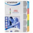 grossiste Bijoux & Montres: tour de cou a5 carton starpak de 5 couleurs feuill