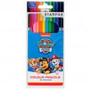 groothandel Licentie artikelen: 12 kleurenpotloden / 180 starpak Paw Patrol