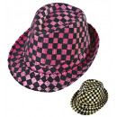 wholesale Toys: chequered sequined fedora 2 colors assorted, Hat