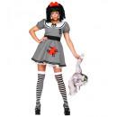 """""""przerażająca lalka"""" (sukienka z krynolinową podko"""