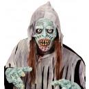 Zarazić zombi pół maska z włosami  - dla