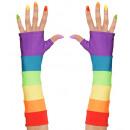 wholesale Gloves:  rainbow  fingerless satin  gloves , Size: ...