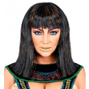 groothandel Woondecoratie: cleopatra pruik met klatergoud in polybag, hoedm
