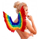 rainbow feather wings  -  for women