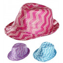 wholesale Toys: zig zag sequined fedora 3 colorsassorted (4 ...