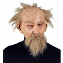 wizard 3/4 mask with hair, eyebrows & beard , Hat