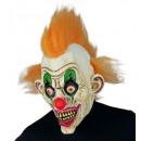 horror circus clown full head mask with hair , Ha