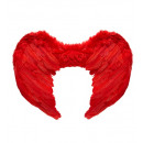 groothandel Woondecoratie: Red veervleugels 37x50 cm - voor vrouwen